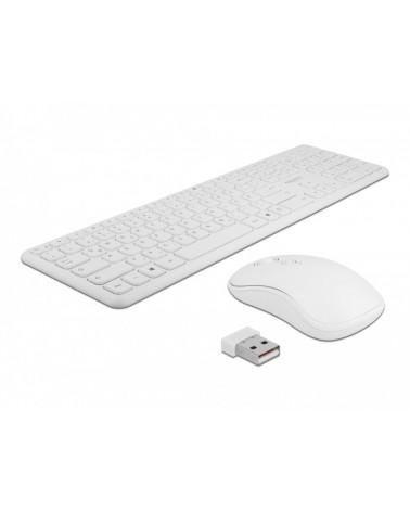 icecat_DELOCK USB Tastatur und Maus Set 2,4 GHz kabellos weiß, 12703