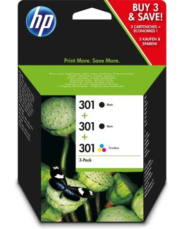 icecat_Hewlett Packard HP Tintenpatrone Nr. 301 Multipack (2xBK) (1x 3-farbig  C M Y), E5Y87EE
