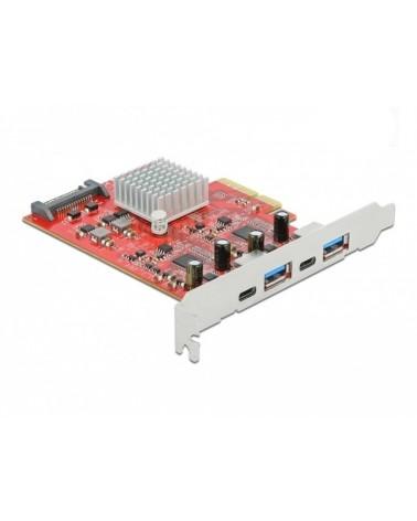 icecat_Delock PCIe x4 2x USB 3.2 Gen 2 Typ-A + 2x USB-C, USB-Controller, 89041