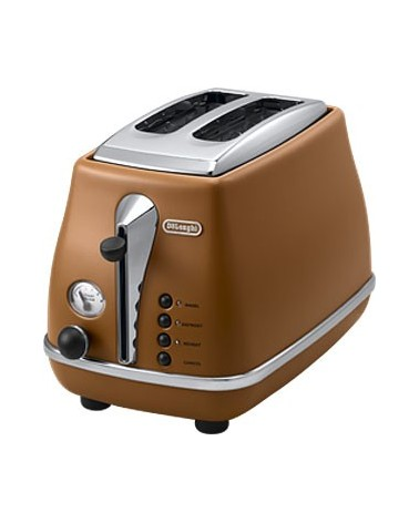 icecat_DeLonghi Icona Vintage CTOV 2003.BW Zwei-Schlitz-Toaster braun Lederoptik, CTOV 2103.BW