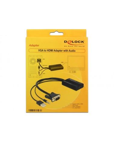 icecat_Delock Adapter VGA + Audio zu HDMI mit Kabel, 62597