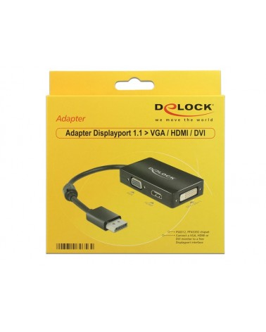icecat_Delock Adapter Displayport  VGA HDMI DVI-D, 62656