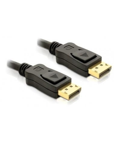 icecat_Delock Kabel DisplayPort DP Stecker Stecker Gold 1,0m black, 82423