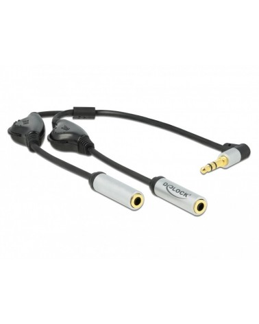 icecat_Delock Audio Splitter Klinkenstecker 3,5mm  2x Klinkenbuchse 3,5mm, Y-Kabel, 66434