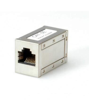 icecat_SCMP RJ45 Kupplung (f-f) vollgeschirmt , Metallgehaeuse Cat5e 100Mbps, 21173002