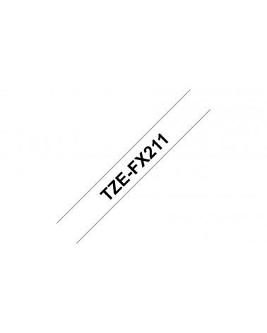 icecat_Brother Schriftband TZe-FX211 (lam., flex.) Schwarz auf Weiß 6mm x 8m, TZEFX211