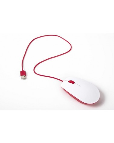 icecat_Raspberry Pi Foundation Raspberry originale Maus in Raspberry red white, RB-Maus01W