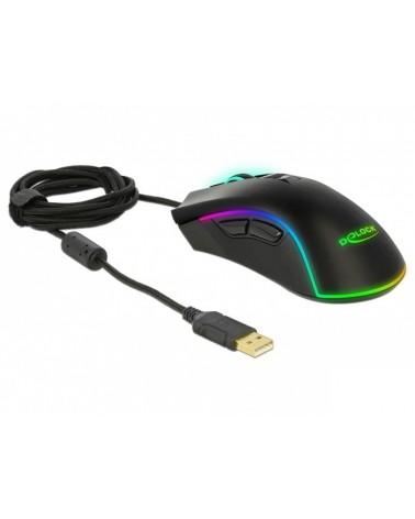 icecat_Delock Optische 7-Tasten USB Gaming Maus - Rechtshänder, 12670